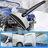 A-RAY車用雪かきアイススクレーパー車氷 車雪かき除雪除去スコップシャベルスノーブラシ車用雪かきスコップ雪かき自動車…