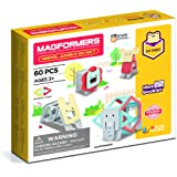 Magformers 702015 My First Animal Jumble 60Piece Set, Pastel Colors, Educational Magnetic Geometric Shapes Tiles Building STE