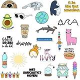 (25 Pack) Vinyl Laptop Stickers for Water Bottles - Cute Hydro Flask Stickers - Water Bottle Sticker Pack - Cool Waterproof S