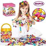 Oumoda Pop Beads Girls Toys 600 PCS DIY Jewelry Making Kit- Kids Snap Beads Jewelry DIY Set Making Necklace, Bracelet, Ring,