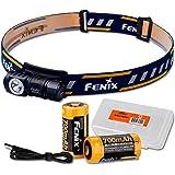 Fenix HM50R 500 Lumens Multi-Purpose Compact LED Headlamp Flashlight, Rechargeable Battery Plus Additional Rechargeable Batte