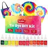 DIY Tie Dye Kits, 26 Colors Fabric Dye Kit for Kids, Adults and Groups, Non-Toxic Tie Dye Supplies for Party, Gathering, Fest