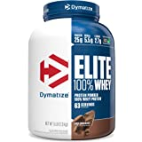 Dymatize Elite 100% Whey Protein Powder, Take Pre Workout or Post Workout, Quick Absorbing & Fast Digesting, Rich Chocolate,