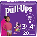 Pull-Ups Learning Designs Girls' Training Pants, 3T-4T, 20 Count