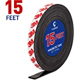 Magnetic Tape, 15 Feet Magnet Tape Roll (1/2'' Wide x 15 ft Long), with 3M Strong Adhesive Backing. Perfect for DIY, Art Proj