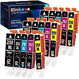 E-Z Ink (TM) Compatible Ink Cartridge Replacement for PGI-250XL PGI 250 XL CLI-251XL CLI 251 XL (3 Large Black, 3 Cyan, 3 Mag