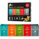 Recycling Bin Bags + Donation Bag for Home Kitchen Office | Portable Indoor Recycle Waste Organizer | Waterproof Garbage Cont