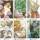 猫の絵はがき 10枚 猫はがき はがき箋 かわいい 私製 はがき絵葉書 凄く可愛い