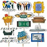 24PCS Friends TV Show Cupcake Topper for Party Decoration,Friends TV Show Cake Toppers for Friends Fans Party, Friends Theme
