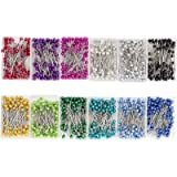 Sewing Pins - 1200-Piece Ball Head Pins, Straight Quilting Pins with Pearl Heads for Dressmaking, Jewelry, Sewing Projects, 1