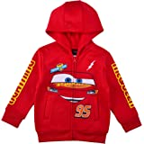 Disney Cars' Lightning McQueen Zip Up Hoodie with Pockets for Boys