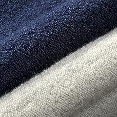 Loopwheeler Sweat Full-zip Hooded Parka: Marine, Gray