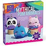 Craft-tastic – DIY Mythical Pom Animals – Craft Kit Makes 3 Pompom Stuffed Animals – Magical Narwhal, Puffy Pandacorn & Cuddl