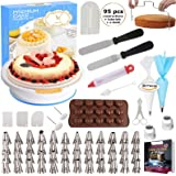 95 pcs Cake Decorating Supplies Kit by Cake Decorating District - Includes 48 Icing Tips - Silicone Pastry Bag and Disposable