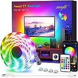 LED Strip Lights, Maylit TV LED Backlight 6.56ft for 40-60in TV Bluetooth Control Sync to Music, USB Bias Lighting TV LED Lig