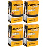 Continental Tour 28 All Inner Bicycle Tubes - 700 x 32-47c, Presta 42mm Valve (4 Pack)