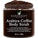 Handcraft Arabica Coffee Body Scrub and Facial Scrub - All Natural with Organic Ingredients - for Stretch Marks, Acne, Powerf