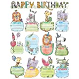Creative Teaching Press Wall Safari Friends Happy Birthday Chart (2793)