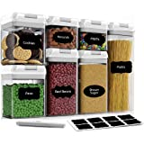 Airtight Food Storage Container Set-CINEYO-7 Piece Set Clear Plastic Canisters For Cereal, Flour with Easy Lock Lids, for Kit