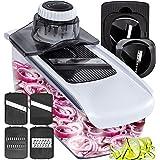 Fullstar Mandoline Slicer Spiralizer Vegetable Slicer - Food Slicer 6-in-1 Vegetable Spiralizer - Potato Slicer Zoodle Maker