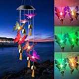 Black Color Butterfly Bell solar butterfly wind chimes butterfly gifts solar Bell butterfly lights outdoor solar hanging ligh