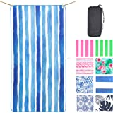 NewLyfe Sand Free Microfibre Beach Towel - Quick Dry, Extra Large 180x90cm Yet Ultra Compact and Lightweight for Caravan, Cam