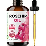 Organic Rosehip Seed Essential Oil - 4 oz Pure Cold Pressed Unrefined Rose Hip Serum for Face Hair Nails 100% Natural Skin Ca