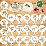 Konsait 20Pack Unicorn Cake Stencil Templates Decoration, Reusable Unicorn Cake Cookies Baking Painting Mold Tools, Dessert,