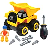 Dump Truck Construction Toy - Build and Take Apart - Great for Learning to Build & Fun to Play - Playset with Screwdriver, Ed