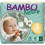 Bambo Nature Eco Friendly Baby Diapers Classic for Sensitive Skin, Size 3 (11-20 lbs), 33ct