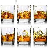 Whiskey Glasses-Premium 11 OZ Scotch Glasses Set of 6 /Old Fashioned Whiskey Glasses,Style Glassware for Bourbon/Rum glasses/