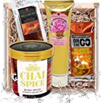 Food Gifts Combo Hamper for Women – Featuring Australian Natural Chai Drink, Dried Nectarine Fruit, Cashew Nuts and Hand...
