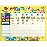 HomeN'Stars Reward Chart - Toddler Chore Chart - Behavior Chart for 3 Kids, 60 Tags for Chores, Behaviors, Routines, Manners,
