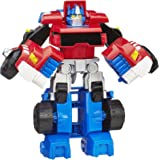 "TRANSFORMERS Optimus Prime 4.5"" Converting Robot Action Figure - Rescue Bots Academy - Kids Toys - Ages 3+"