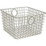 Spectrum Diversified Teardrop Storage Basket, Large, Satin Nickel