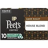 Peet's Coffee House Blend Dark Roast Coffee K-Cup, 10 ct