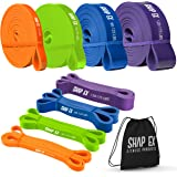 ShapEx Pull Up Bands-Heavy Duty Set of 4 Pull Up Workout Bands, Perfect Resistance Bands for Body Stretch, Physical Therapy,