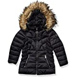 DKNY Girls Puffer Jacket Down Alternative Coat