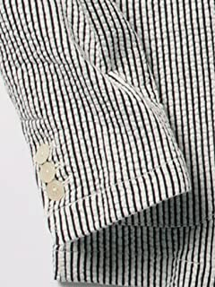 Seersucker Jersey Jacket 51-16-0224-012: White / Navy