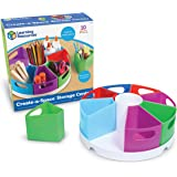 Learning Resources Create-a-Space Storage Center, Homeschool Storage, Fits 3oz Hand Sanitizer Bottles, Bright Colors, Classro