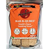 Pit Brothers Bar-B-Qubes Premium Compressed Hickory Wood Chunks for Smokers - & Eco-Friendly BBQ Wood Chunks for Smoking and