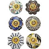 Dresser Knobs and pulls Cupboard Handmade Colorful Decorative Floral Drawer Handle Boho Home Decor Hardware