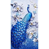 TOCARE DIY 5D Diamond Painting by Numbers 45x75CM/18x30 Inch Full Diamond Large Lucky Bird Peacock Animal Embroidery Home Dec