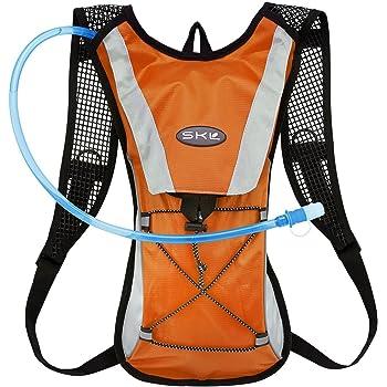 GIM ハイドレーションバッグ 2L給水袋 セット 水分補給 ランニングバッグ 自転車 登山 ランニング サイクリング 超軽量