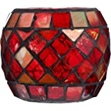 Mobestech Glass Candle Holders Mosaic Tealight Holder Votive Candle Holders Christmas Dining Table Centerpieces Wedding Decor