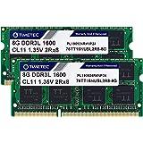 Timetec Hynix IC 16GB Kit(2x8GB) DDR3 1600MHz PC3-12800 Non ECC Unbuffered 1.35V CL11 2Rx8 Dual Rank 204 Pin SODIMM Laptop No