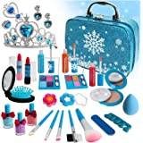 Senrokes Washable Makeup Girls Kit- Little Girls Makeup Kit Frozen Toy for Girls Kids Makeup Set for Girl 28 Pcs Childrens Be