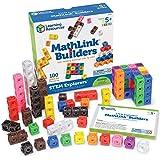 Learning Resources LER9294 STEM Explorers MathLink Builders Game (100 Piece),Multi