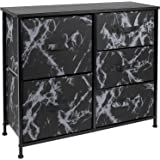 Sorbus Dresser with 5 Drawers - Furniture Storage Tower Unit for Bedroom, Hallway, Closet, Office Organization - Steel Frame,