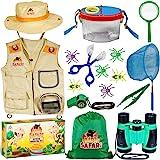 OzBSP Kids Outdoor Adventure Kit. Kids Explorer Kit. Nature Exploration Toy for Boys Girls. Bug Catching Pack. Safari Vest &